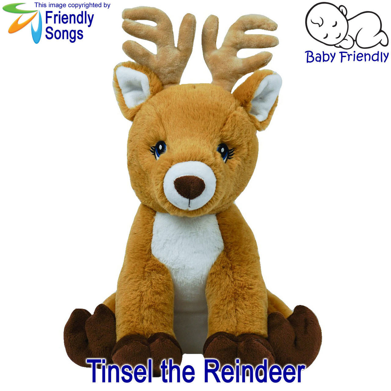 Tinsel the Reindeer Personalized Stuffed Animal