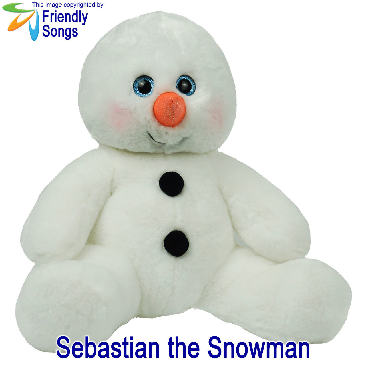 Sebastian the Snowman Personalized Stuffed Animal