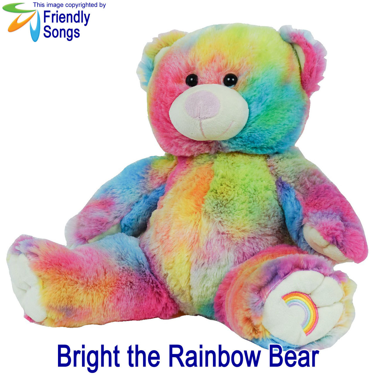 Bright the Rainbow Bear Personalized Stuffed Animal